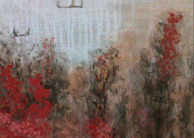 Catherina Zavodnik - Paysage Rocheux, painting