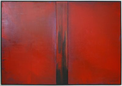 Catherina Zavodnik, Red Space 2005, 323 x 200cm acrylic and gouache on canvas
