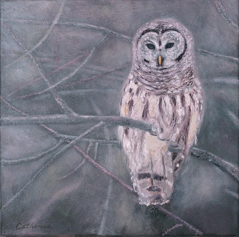 Still Life with White Owl