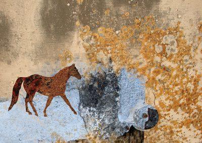 Paesaggio con cavallo