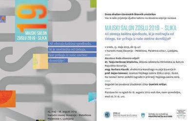 Invitation/ Vabilo Majski salon ZDSLU 2019 – SLIKA/PAINTING